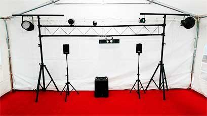 Location de matériel de sonorisation et jeux de lumières pour tous vos événements dans le Morbihan (56), secteur de Carnac, Ouest Loc Réception