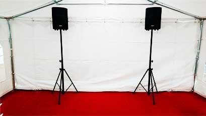 Location de matériel de sonorisation et jeux de lumières pour tous vos événements et réception dans le Morbihan (56), secteur d' Auray , Ouest Loc Réception