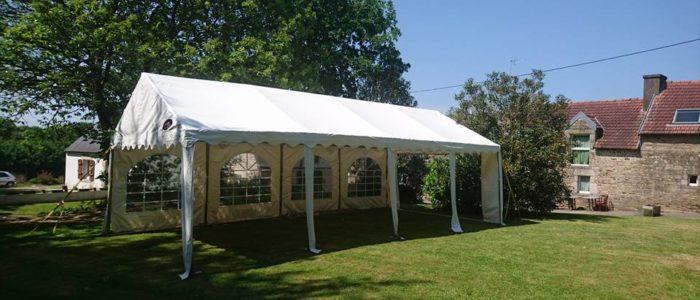 Location tente de réception avec plancher, structures pour réception type mariage, anniversaire, fête privée u professionnelle près de Lorient, Ouest Loc Réception